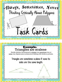 Thinking Critically About Polygons