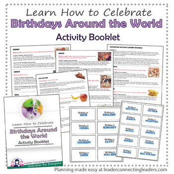 Thinking Day - Birthday's Around the World Activity Booklet