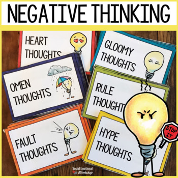Thinking Error Cards To Help Kids Spot Negative Thoughts Use