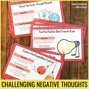 Thinking Error Cards to Help Kids Spot Negative Thoughts, Use ...