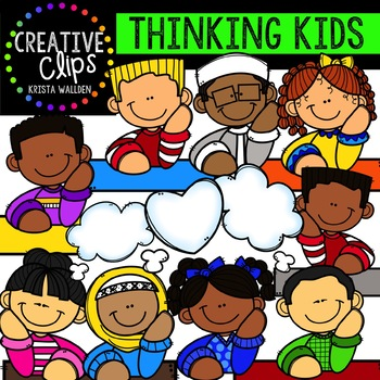Thinking Kids Clipart {Creative Clips Clipart} | TpT
