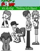 Thinking Kids / People Fun Clipart / Graphics - Set 2