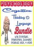 Thinking & Language Cognition Psychology Unit Bundle PowerPoints &  Activities