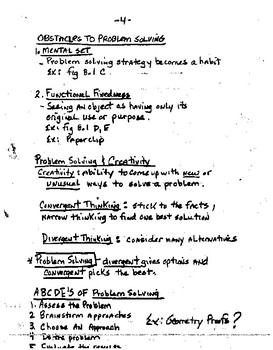 Thinking & Language Lecture Notes