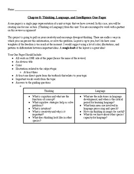 Thinking, Language, and Intelligence One-Pager