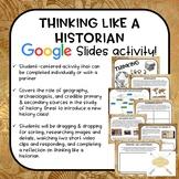 Thinking Like A Historian | Intro to history digital activity