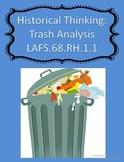 Thinking Like A Historian:  Trash Analysis Think Sheet (Citing Evidence)