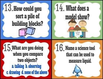 Thinking Like A Scientist- Science Task Cards FREEBIE