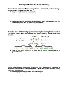 Thinking Like Mendel: The Basics of Genetics and Heredity
