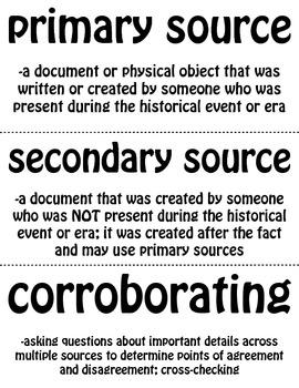 Thinking Like a Historian Word Wall
