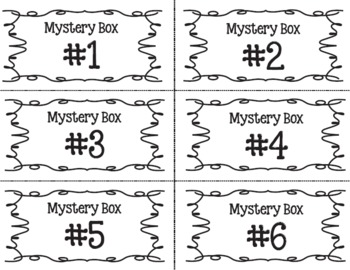 Thinking Like a Scientist:  What's In the Mystery Box Science Investigation