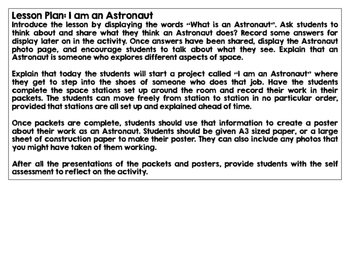 Thinking Like an Astronaut CCSS