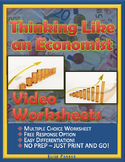 "Thinking Like an Economist Worksheets: Episode 2, ""Three Core Concepts"""
