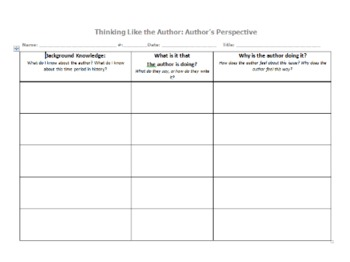 Thinking Like the Author: Author's Perspective