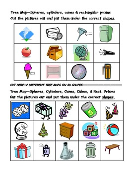 Thinking Map Activities for 2 & 3D Shapes