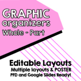 EDITABLE Maps for Thinking - Whole - Part Brace MAP + Poster