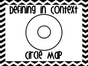 Thinking Map Posters Black and White Chevron
