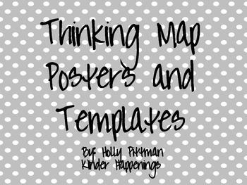 Thinking Map Posters and Templates- Grey Polka Dot