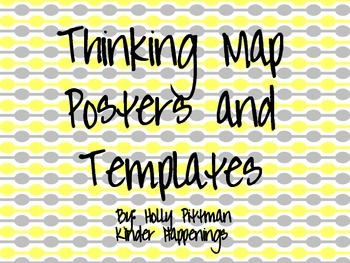 Thinking Map Posters and Templates- Yellow and Grey