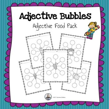 Adjective Bubbles Food Pack