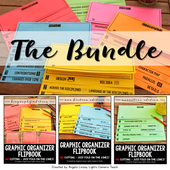 Graphic Organizer Flipbook for ANY Text! : THE BUNDLE