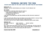 'Thinking Outside The Box' - 3 Lessons combining Literacy and The Arts