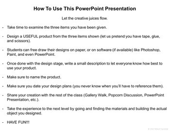 Thinking Outside The Box Challenges- Volume #3 (PowerPoint)