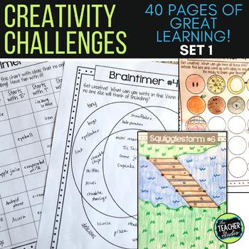 Thinking Outside the Box:  Creativity Activities Set 1