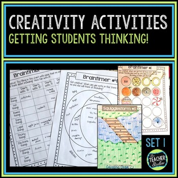 Creativity Activities Set 1 | Creative Thinking Activities and Printables