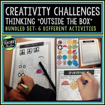 Creativity Activities Bundled Set | Creative Thinking Activities and Printables