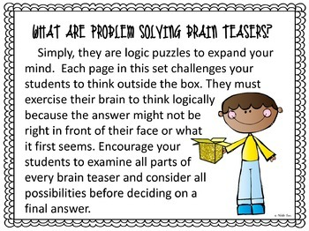 Thinking Outside the Box ~ Problem Solving Brain Teasers