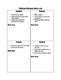 Thinking Pathways Warm-Up Template