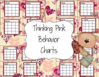 Thinking Pink Behavior Charts