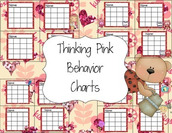 Thinking Pink Behavior Charts