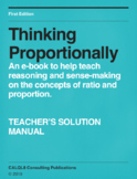 Thinking Proportionally - Teacher's Solution Manual
