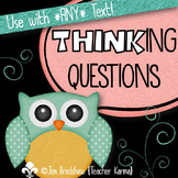 Thinking Questions to Assess Comprehension, Metacognition, Guided Reading, RTI