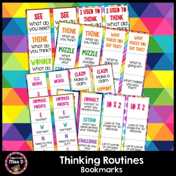 Thinking Routines Bookmarks