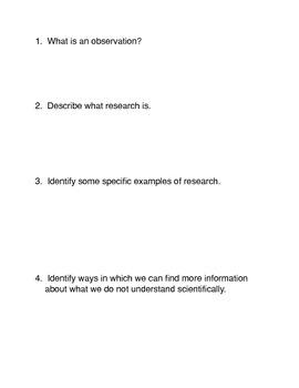 Thinking Scientically
