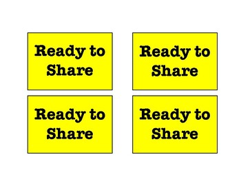 Thinking/Sharing Participation Hold Ups
