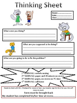 Thinking Sheet