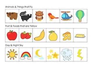 Thinking Skills : Classifying and Sorting (Kindergarten & First Grade)
