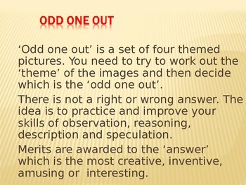 Thinking Skills Odd One Out