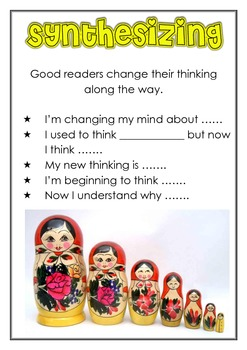 Thinking Stem Comprehension posters