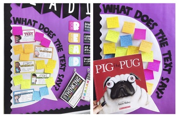Thinking Stem and Text Response Bulletin Board – What Does the Text Say