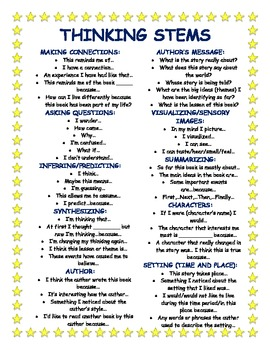 critical thinking questioning stems Developing higher order thinking questions to promote student learning   quality, thoughtful questions set high expectations and promote critical and  creative thinking as well problem solving teachers can  analyzing stems ( level 4.