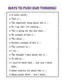 Thinking Stems Anchor Chart