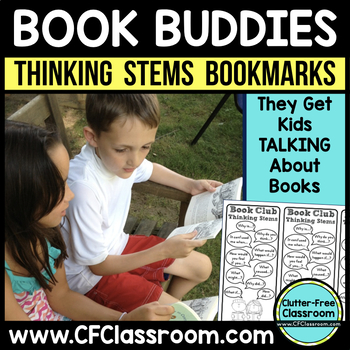 Thinking Stems Bookmarks (Common Core: 1.RL.1, 2.RL.1, 3.RL.1, 4.RL.1, 5.RL.1}
