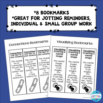 Comprehension Strategies Thinking Stems & Evidence Posters, bookmarks & More
