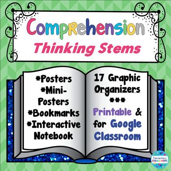 Comprehension Strategies Thinking Stems & Evidence Posters