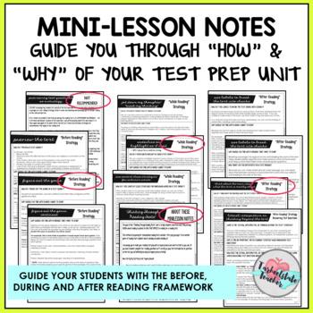 Reading Test Prep Minilesson Framework for ELA Reading